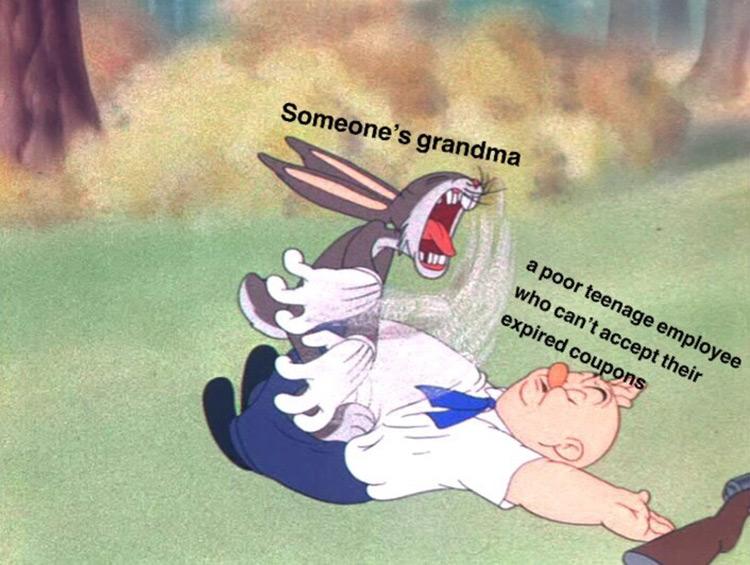 Someones grandma bugs bunny fat Fudd meme