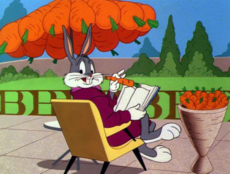 Bugs Bunny with carrots meme