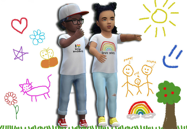 Pride Toddler Tee for Sims 4