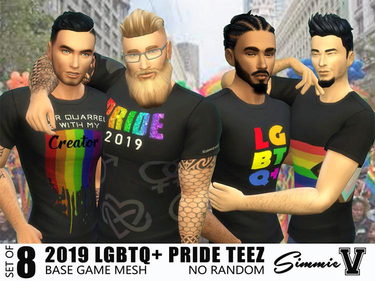 LGBTQ+ 2019 Pride Shirts Sims 4 CC