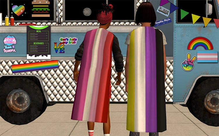 Pride Flag Accessory Sims 4 CC