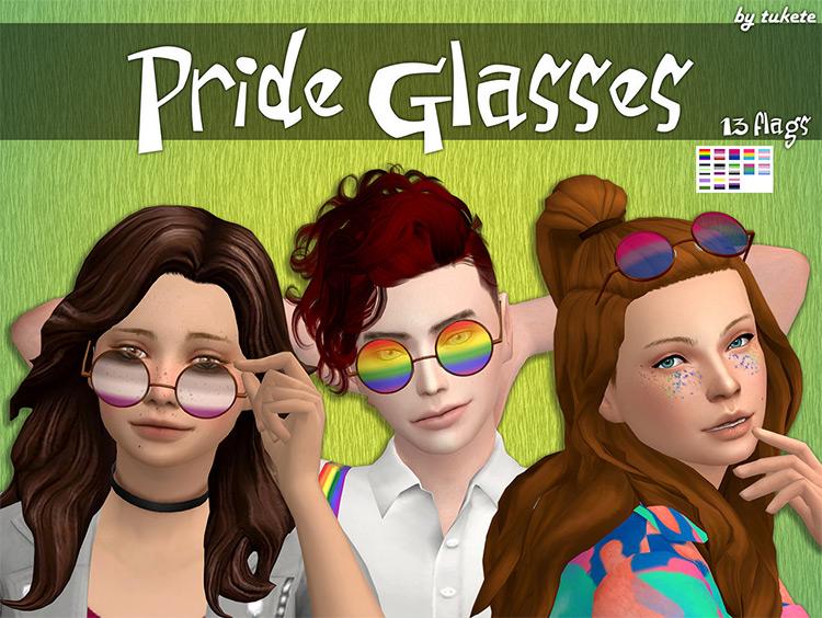 Pride Glasses Sims 4 CC screenshot