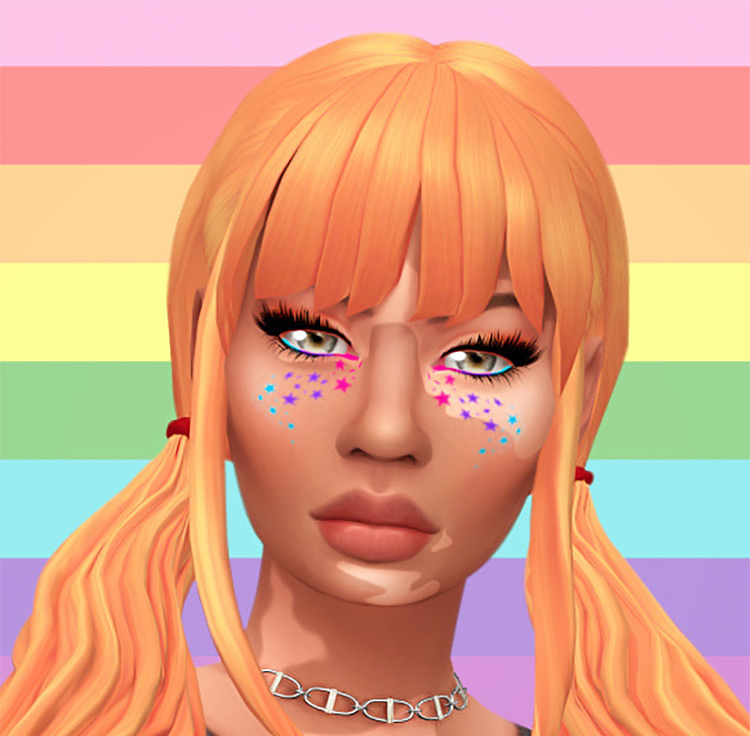 Pride Face Paint for Sims 4