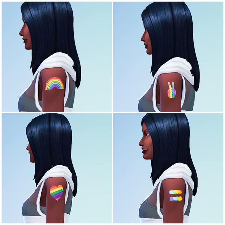 Pride Upper Arm Tattoo Sims 4 CC