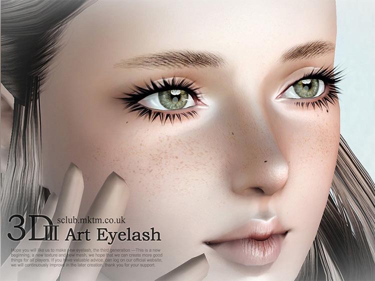 S-Club Eyelash Set N3A Sims 3 CC
