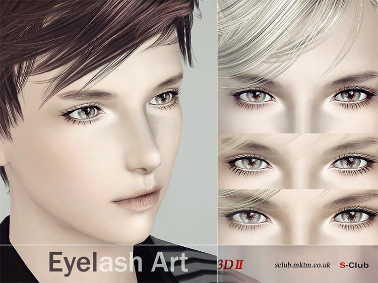 Eyelash Set N2 Sims 3 CC screenshot