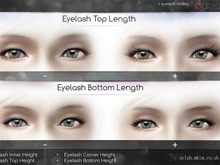 Eyelash Slider for Sims 3