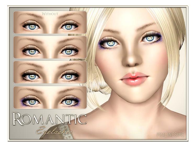Romantic Eyelashes Sims 3 CC