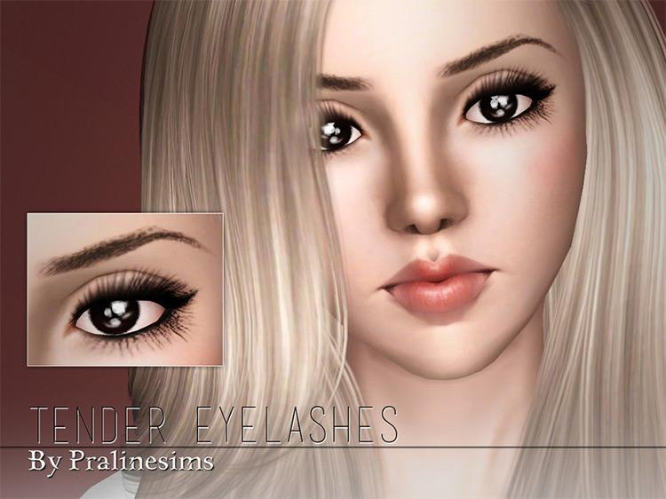 Tender Eyelashes for Sims 3