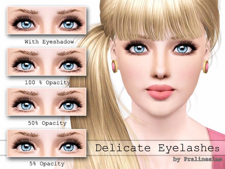 Delicate Eyelashes Sims 3 CC screenshot