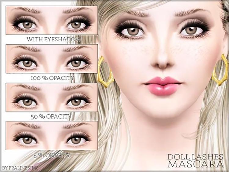 Doll Lashes Mascara Sims 3 CC