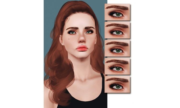 Pandelabs Eyelash Set 1 for Sims 3