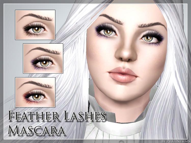 Feather Lashes Mascara Sims 3 CC