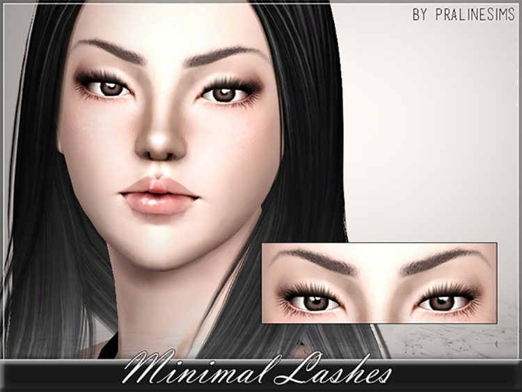 Minimal Lashes for Sims 3