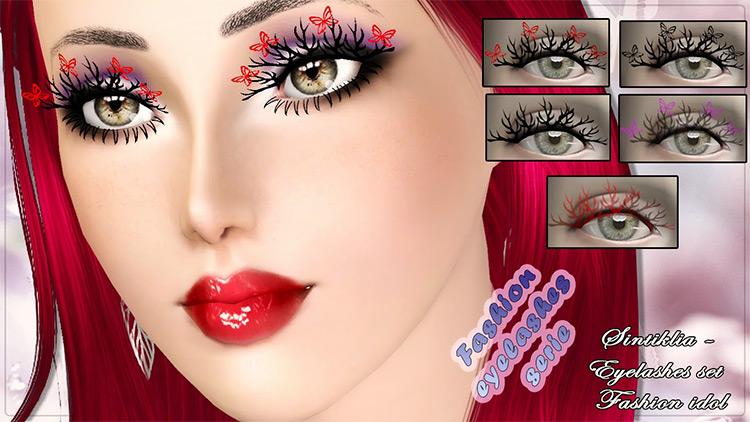 Fashion Idol Eyelashes Sims 3 CC screenshot