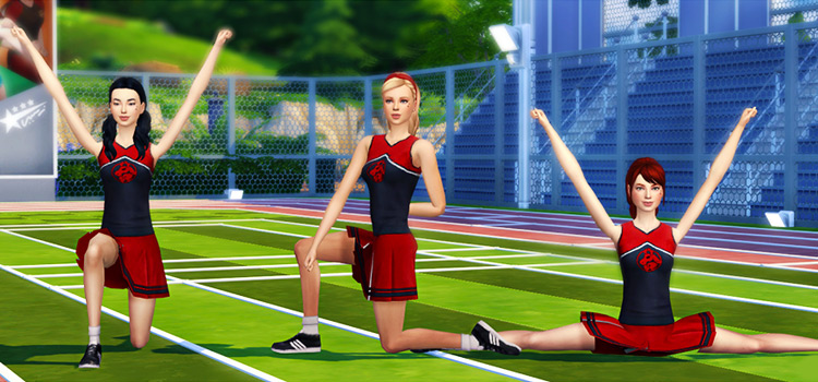 Cheerleader poses for The Sims 4