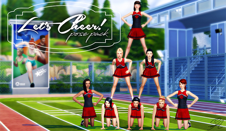 Cheerleader Poses Sims 4 CC screenshot
