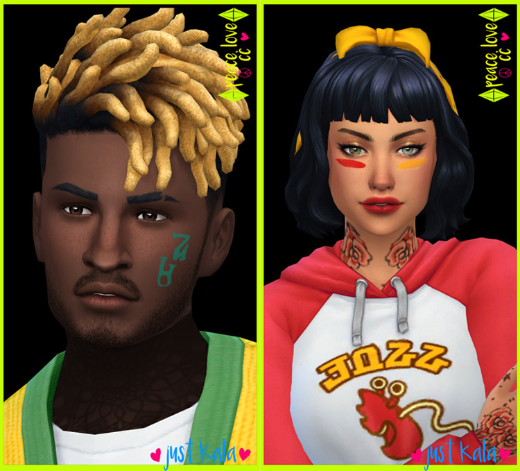 School Spirit Face Paint for Sims 4