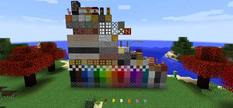 NiftyBlocks modded in Minecraft