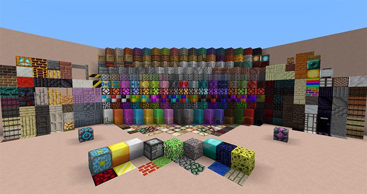 Blockus Mod in Minecraft