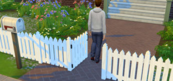 White Picket Fence - Sims 4 modded preview