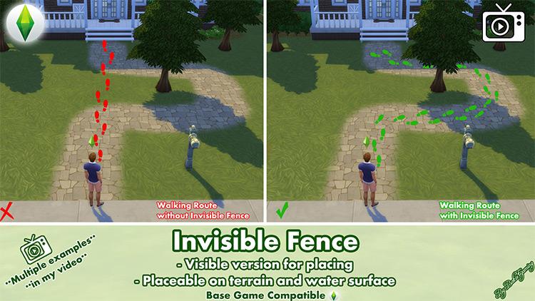 Invisible Fence Mod for The Sims 4