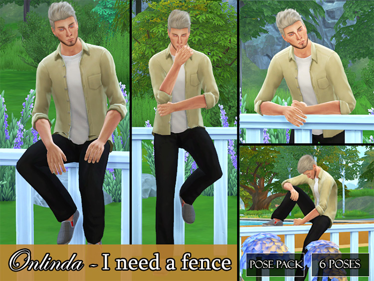 Fence Pose Pack for The Sims 4