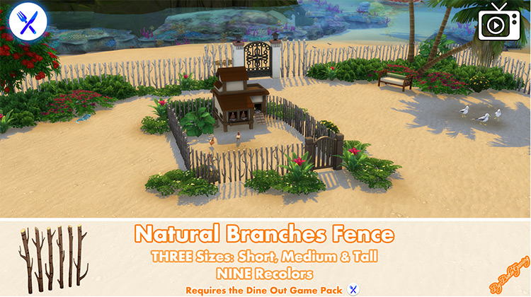 Natural Branches Fence CC