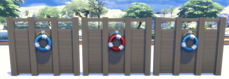Beach Privacy Fence CC for Sims 4