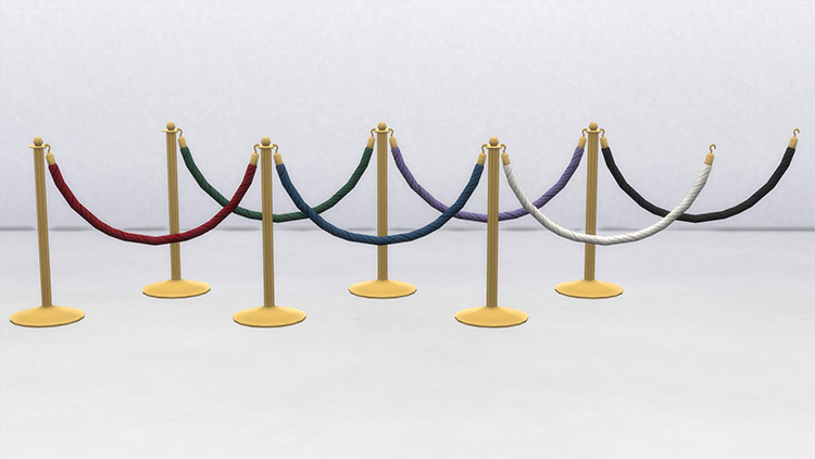 VIP Rope Fence CC for Sims 4