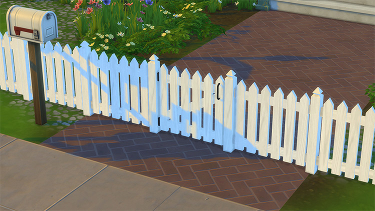 White Picket Fence CC for Sims 4