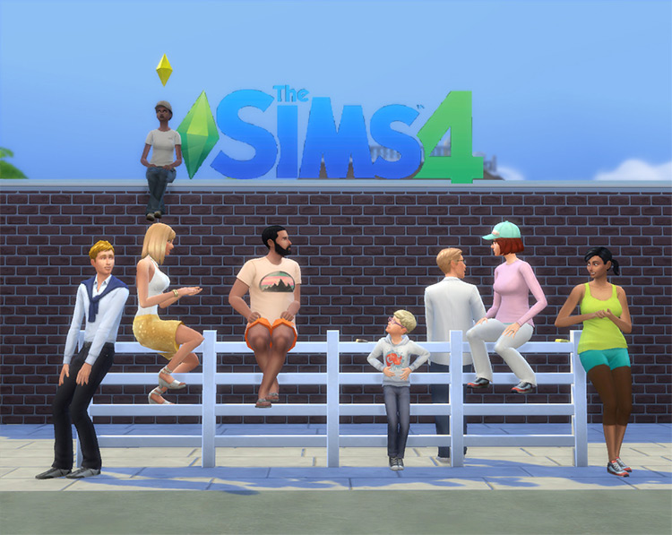 Sit & Lean on Fences - Mod for The Sims 4