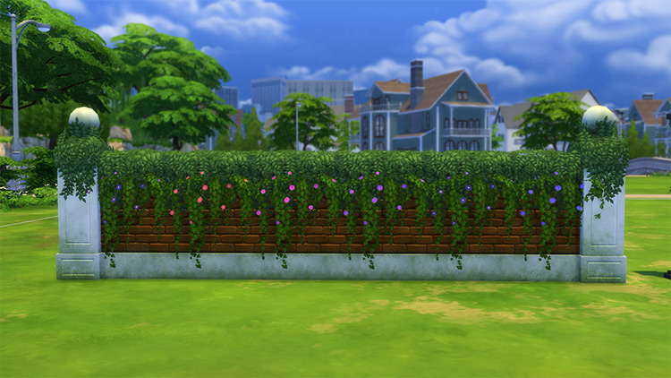 Vines for Fences Add-on for Sims 4