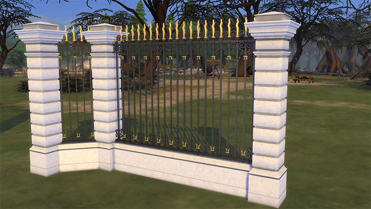 Lyon Wrought Iron Fence Mod