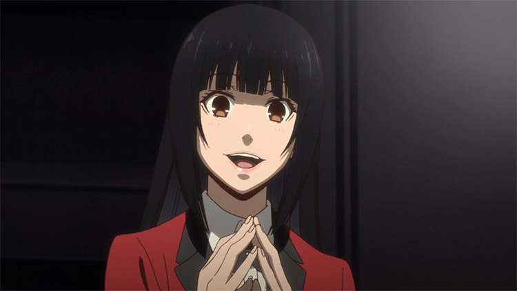 Yumeko Jabami Kakegurui anime screenshot