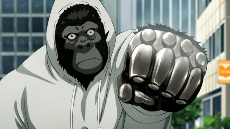 Armoured Gorilla One Punch Man anime