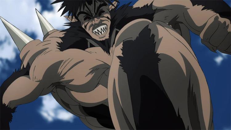 Bakuzan One Punch Man anime screenshot