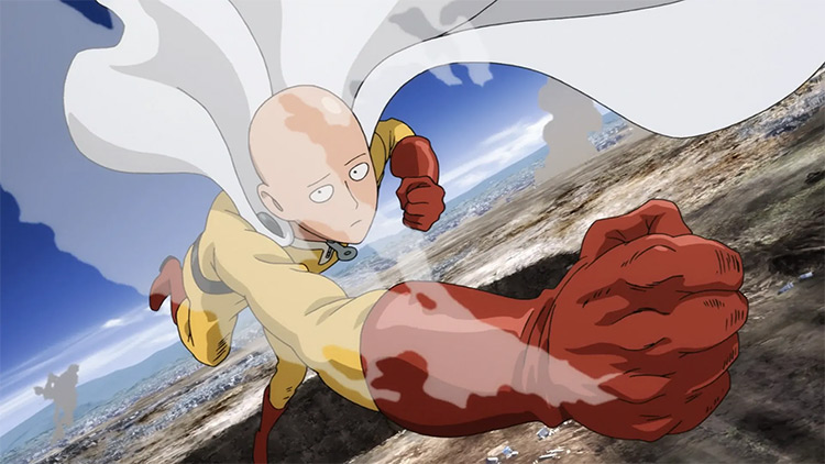 Saitama from One Punch Man anime