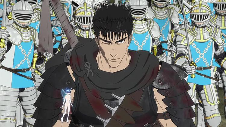 Guts Berserk anime screenshot