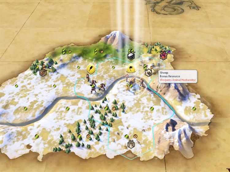 Sheep in Civilization 6 screenshot