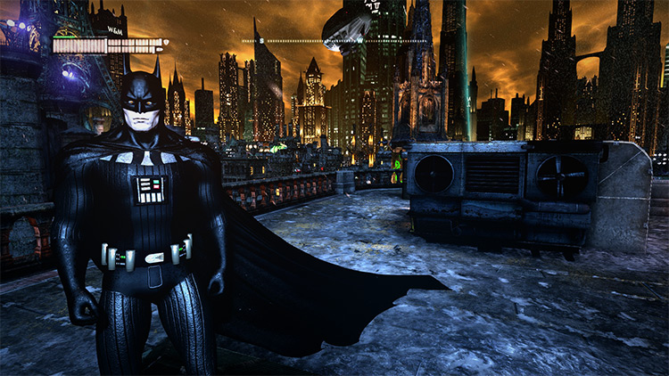 Darth Vader themed batsuit for Batman: Arkham City
