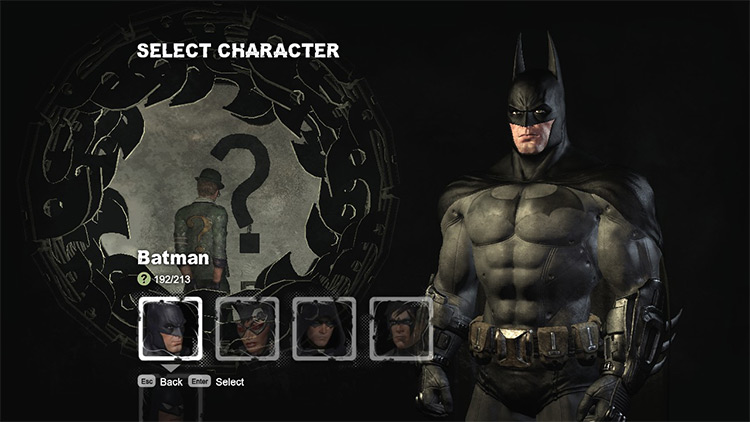 Black Cape and Cowl Batman: Arkham City Mod