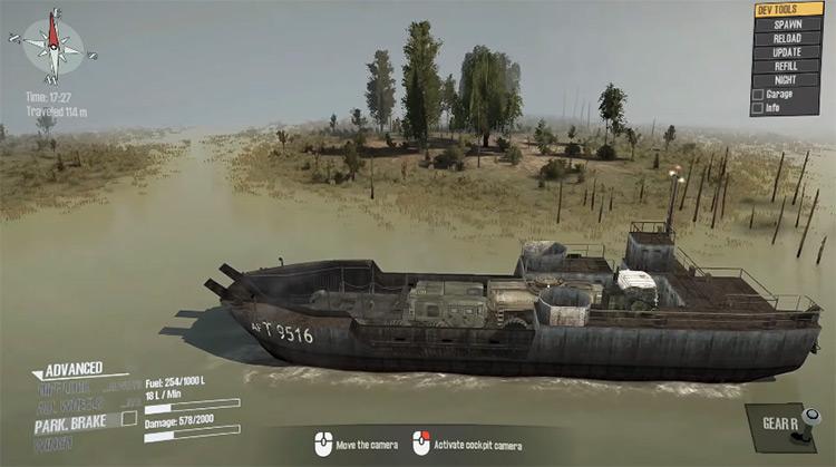 Barge Mudrunner Mod