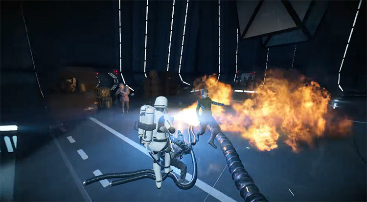 First Order Flametrooper in Battlefront 2