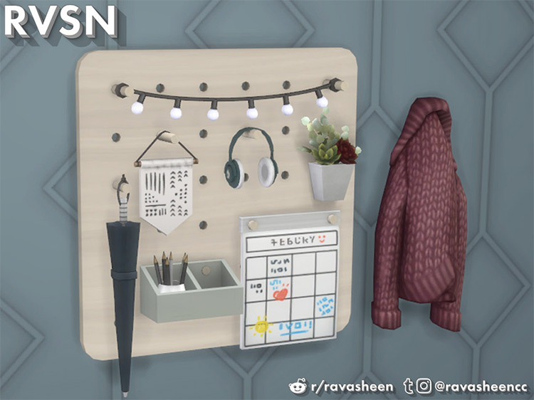 Peg To Differ - Entryway Set Sims 4 CC