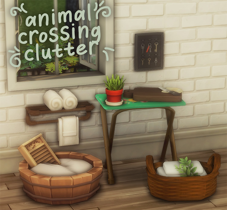 Animal Crossing Clutter Sims 4 CC