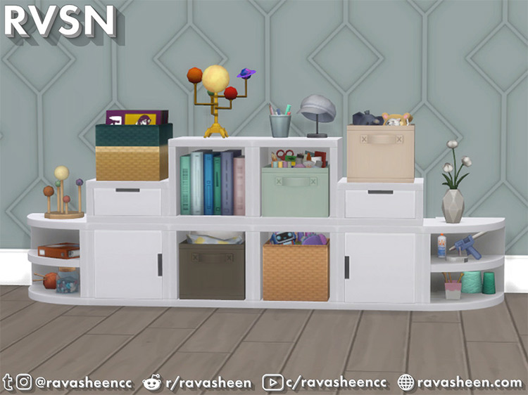 Storage Squared Cubby Inserts for Sims 4