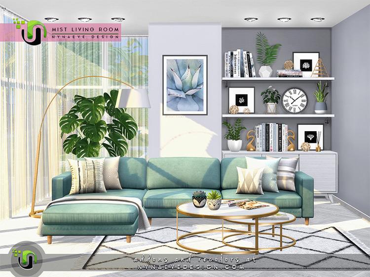 Mist Living Room Decor Sims 4 CC