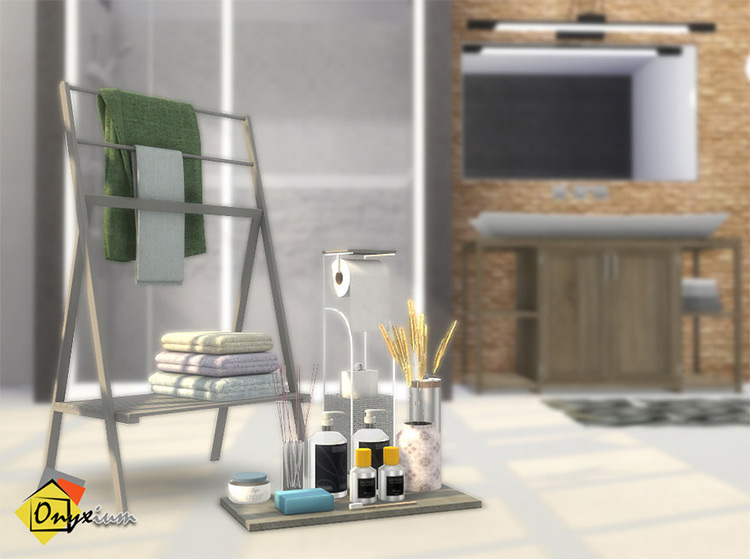 Limoges Bathroom Accessories Sims 4 CC