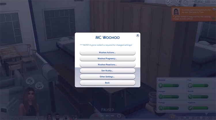 MC WooHoo Sims 4 mod screenshot